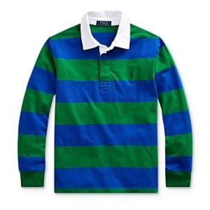 Ralph Lauren Long Sleeve Striped Rugby Shirt NEW
